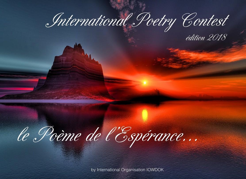 Concours International De Poesie Iowdok 2018 Le Poeme De L